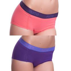 2Pack Dámské Kalhotky Puma Hipster Magenta