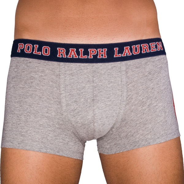 Pánské Boxerky Polo Ralph Lauren Classic Trunk Grey - obrázek