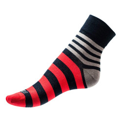 Pánské ponožky PHUSECKLE modro/červené pruhy