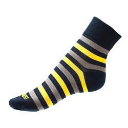 Pánské ponožky PHUSECKLE modro/žluté pruhy