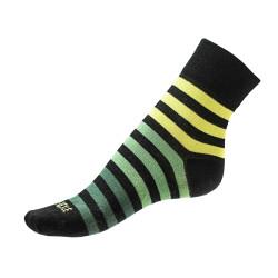Pánské ponožky PHUSECKLE zeleno/zelené pruhy