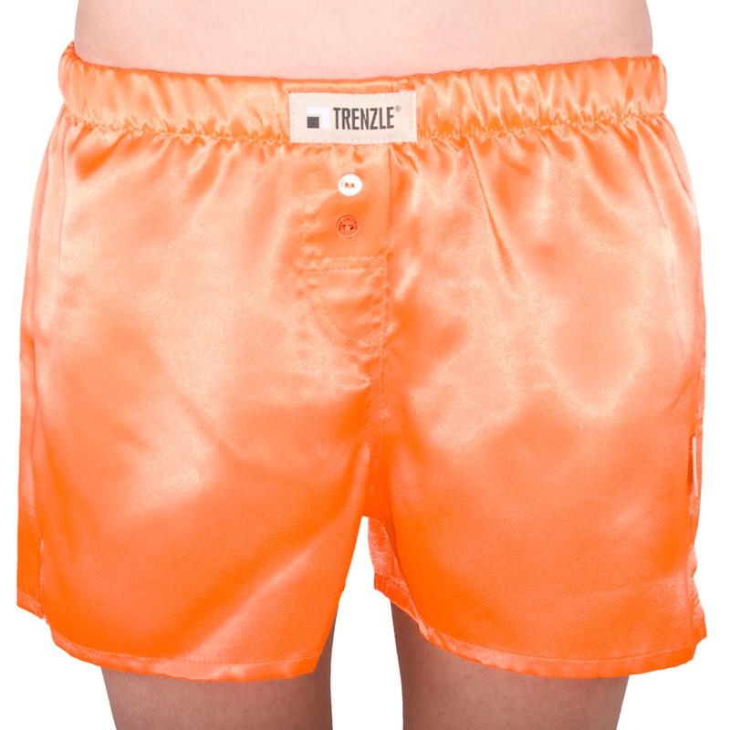 Dámské trenýrky TRENZLE saténové fluorescentní oranžové - obrázek