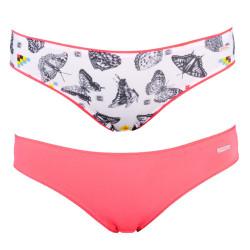 2PACK Dámské Kalhotky Diesel Bonitas Mutande Pink Butterfly