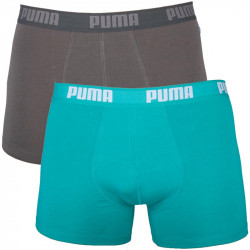 2PACK Pánské Boxerky Puma Columbia Green Long