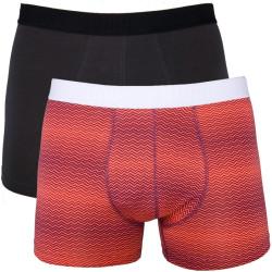 2PACK Pánské Boxerky Puma Hot Coral Long