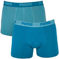 2PACK Pánské Boxerky Puma Brittany Blue Long