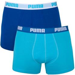 2PACK Pánské Boxerky Puma Scuba Blue Long