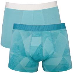 2PACK Pánské Boxerky Puma Stone Blue Long