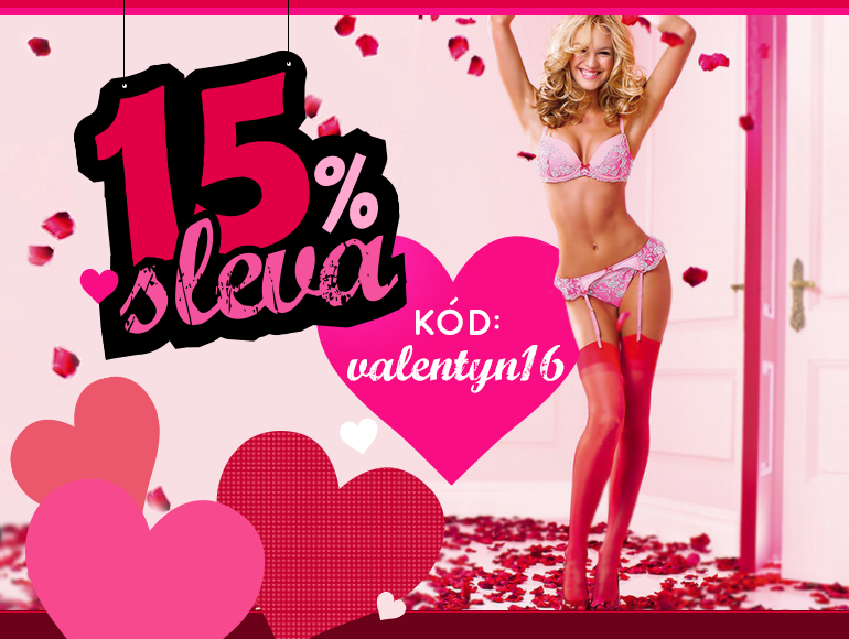 Sleva 15% na Valentýn