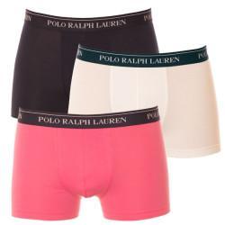 3PACK Pánské Boxerky Polo Ralph Lauren Navy / Pink / White
