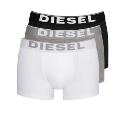 3PACK Boxerky Diesel Black / White / Grey Essential