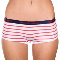 Dámské Kalhotky Mosmann Australia Boyshorts Red/White Stripe