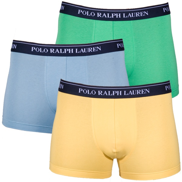 3PACK Pánské Boxerky Polo Ralph Lauren Blue Yellow Green