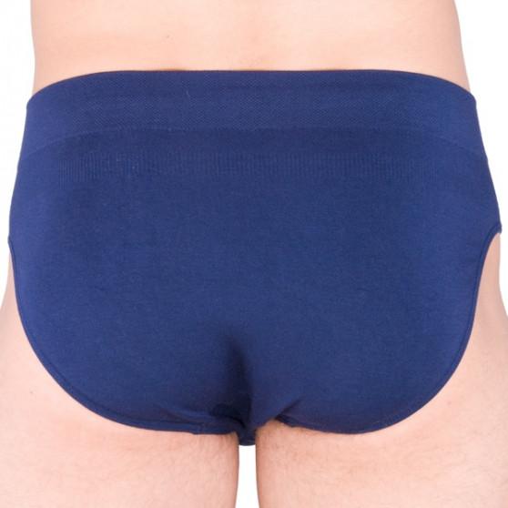Pánské slipy Gino bambusové modré (50003)