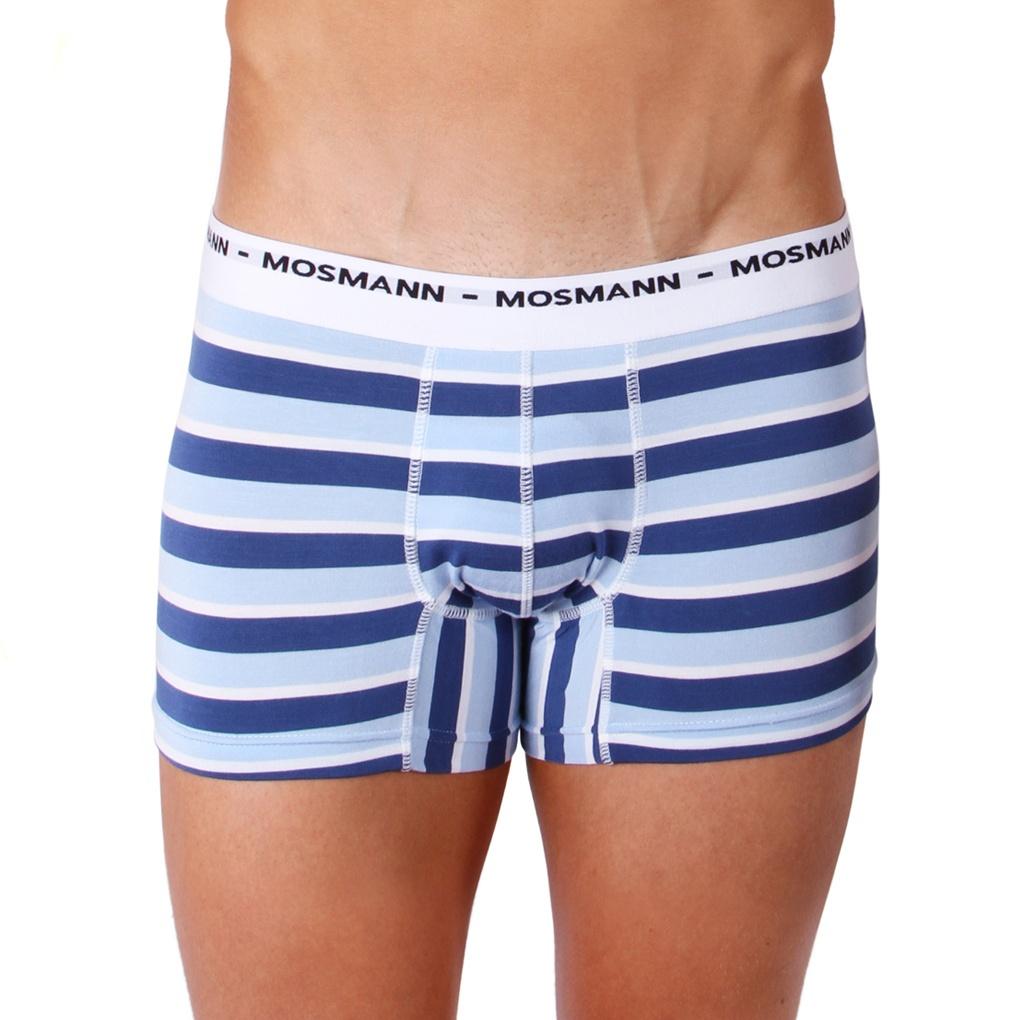 Pánské Boxerky Mosmann Australia Boxer Eco Riviera Blue/Light Blue Stripe L