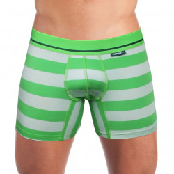 Pánské Boxerky Mosmann Australia Boxer Kelly Luxe Grey/Green Striped