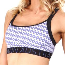 Dámská Sportovní Podprsenka Mosmann Australia Crystal Crop Top Purple Diamonds