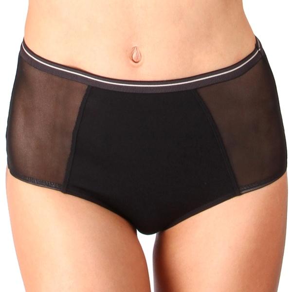 Dámské Kalhotky Mosmann Australia Kate Hi Waisted Brief Black XL