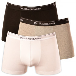 3PACK Pánské Boxerky Polo Ralph Lauren White / Black / Grey