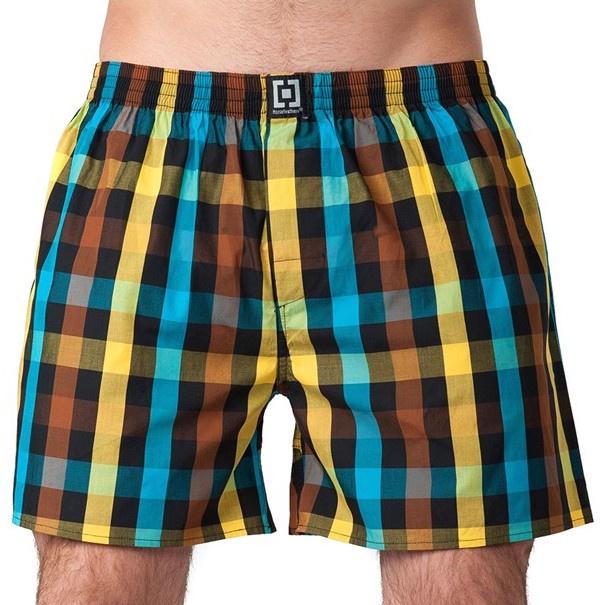 Pánské Trenky Horsefeathers Sin Boxer Shorts Brown S
