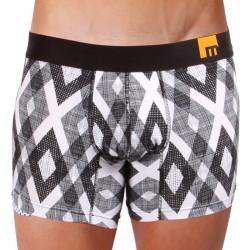 Pánské Boxerky Mosmann Australia Boxer Vermont Mode Black/White Diamond Print