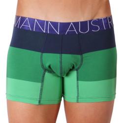 Pánské Boxerky Mosmann Australia Boxer Comfort Aura Green/Blue Stripe