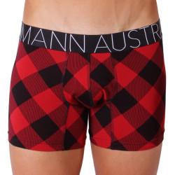 Pánské Boxerky Mosmann Australia Boxer Comfort Tate Flannel Print Red/Black