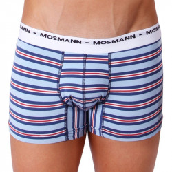 Pánské Boxerky Mosmann Australia Boxer Eco Ash Light Blue Multi Stripe