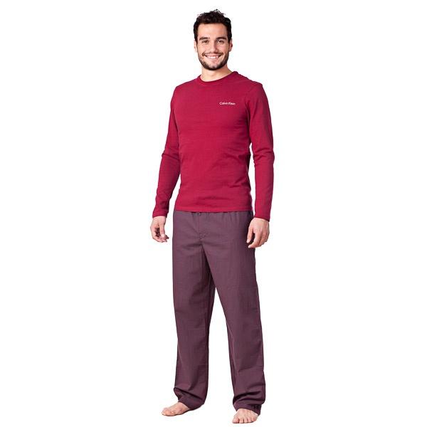 Pánské Pyžamo Calvin Klein Cotton Red Stripes V Dárkovém Balení