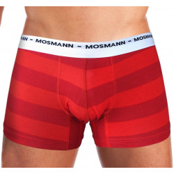 Pánské Boxerky Mosmann Australia Boxer Eco Red/Maroon Stripe