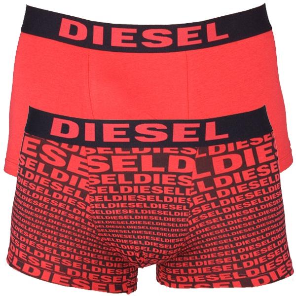 2pack Pánské boxerky Diesel Red Black