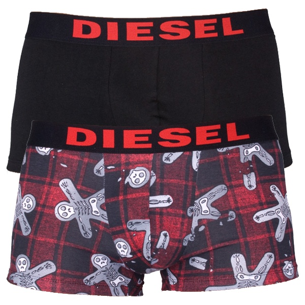 2Pack Diesel Boxerky Shawn Boxers Xmas Ghosts Red