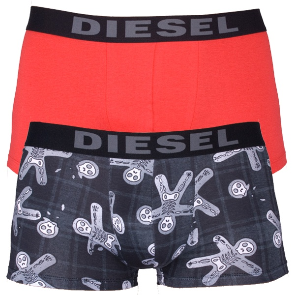 2Pack Diesel Boxerky Shawn Boxers Xmas Ghosts Grey