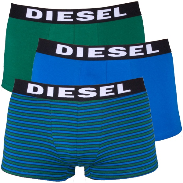 3Pack Diesel Boxerky Shawn Boxers Blue Green Stripes S
