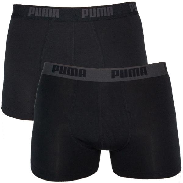 2PACK Pánské Boxerky Puma Black / Black Long
