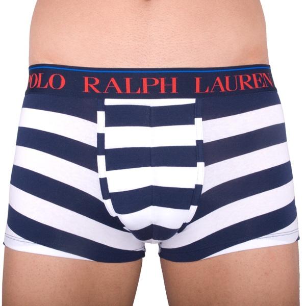 Pánské Boxerky Polo Ralph Lauren White / Blue Stripes