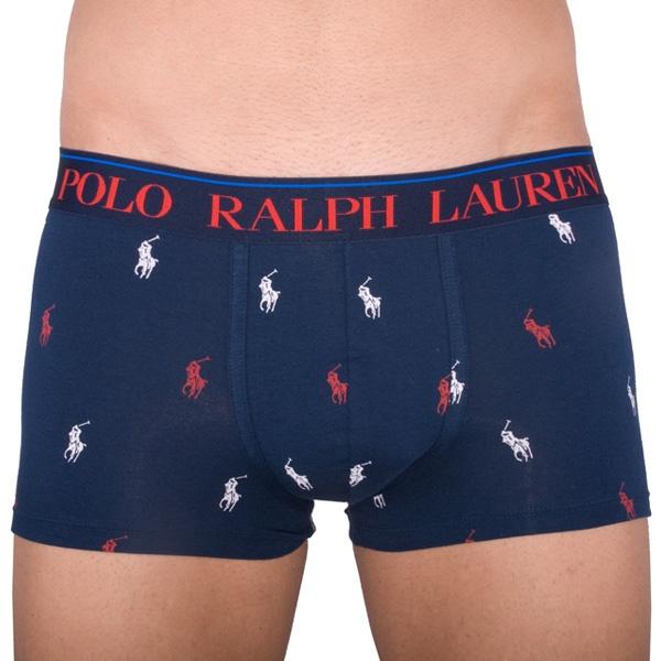 Pánské Boxerky Polo Ralph Lauren Blue Logos