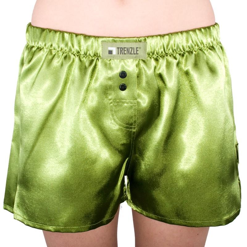 Dámské trenýrky TRENZLE saténové zelené