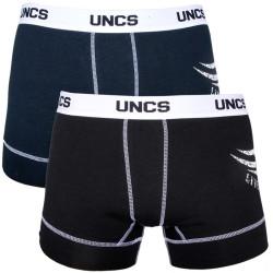 2Pack Pánské Boxerky UNCS Modré Černé