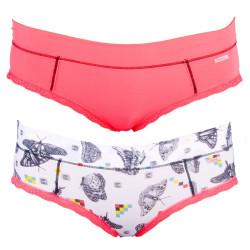 2PACK Dámské Kalhotky Diesel Celebriti Mutande Pink Butterfly