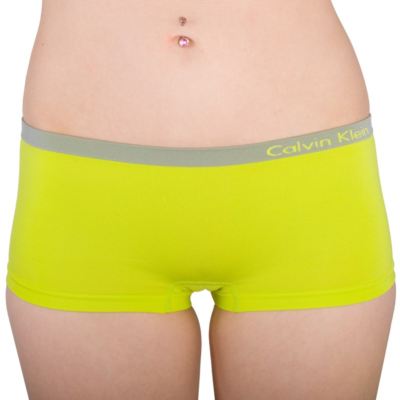 Dámské Bezešvé Kalhotky Calvin Klein Hipster Green