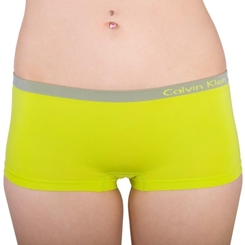 Dámské kalhotky Calvin Klein Seamless hipster zelené