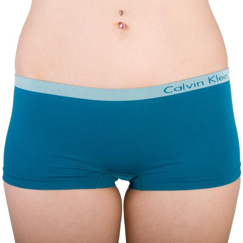 Dámské Bezešvé Kalhotky Calvin Klein Hipster Blue