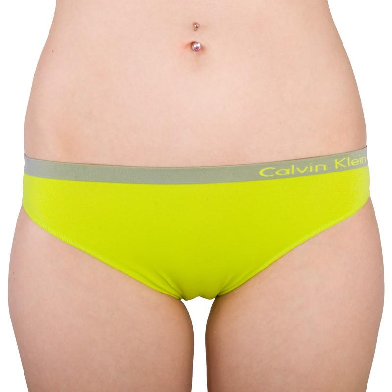 Dámské kalhotky Calvin Klein Seamless bikini zelené