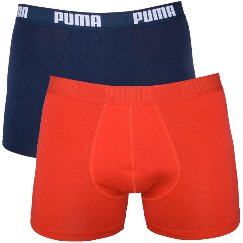 2PACK Pánské Boxerky Puma Blue Red Long