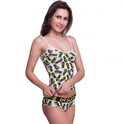 Dámské Tílko 69SLAM Top Bamboo Pineapples White S-Top