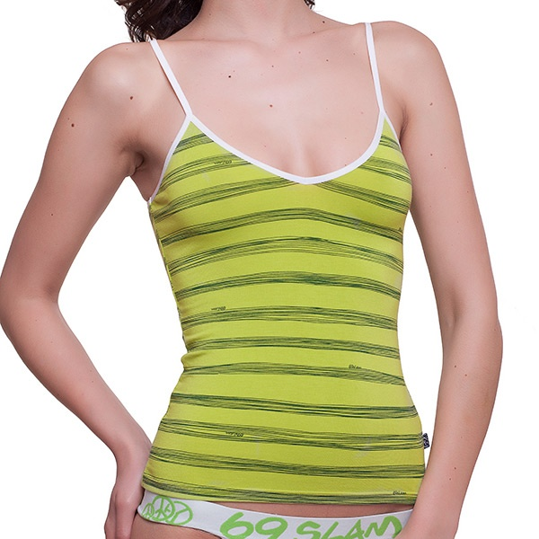 Dámské Tílko 69SLAM Top Bamboo Lime Green Stripes