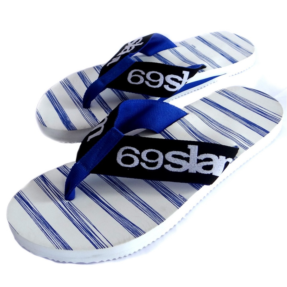 Pánské žabky 69SLAM Stripes Blue