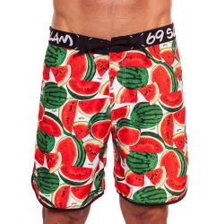 Pánské Plavky 69SLAM Krátké Boardshort Medium Watermelon