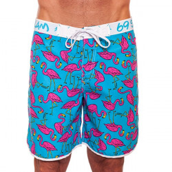 Pánské Plavky 69SLAM Krátké Boardshort Medium Flamingo Blue